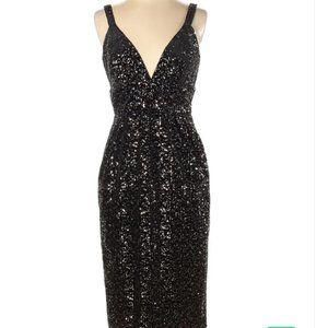 NWT Jill Stuart black velvet sequined dress size 4